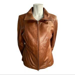 Danier Brown Italian Leather Jacket Size Medium